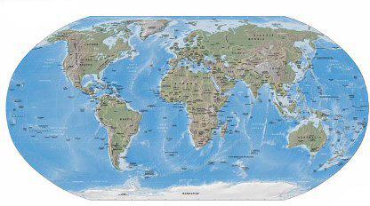 แผนที่โลกแห่งฮวงจุ้ย